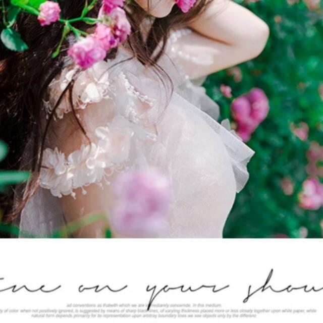 預購 高個限定 珍珠 蕾絲 長紗裙 可當 孕婦 洋裝 165公分以上適合唷