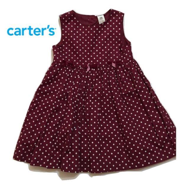 🇺🇸 Carters 童裝 女童 可愛 點點 洋裝 24M