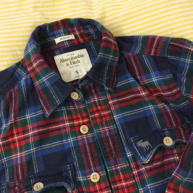 A&F Abercrombie&Fitch 格子襯衫 長袖