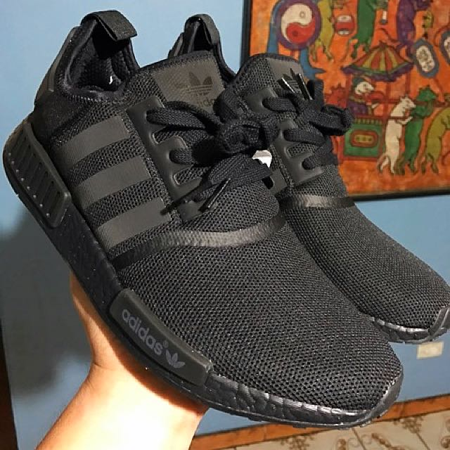 Authentic Adidas NMD Triple Blacks. Size 11.5 US. BNWT & can show receipt for authenticity.