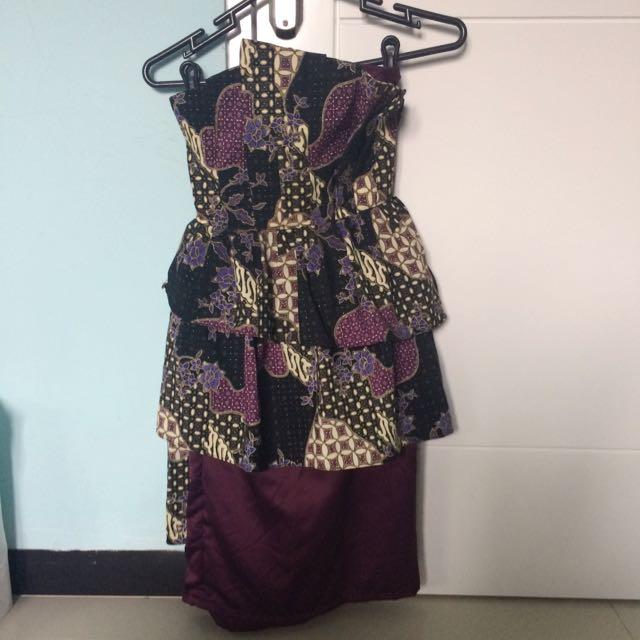 BATIK ruffle dress