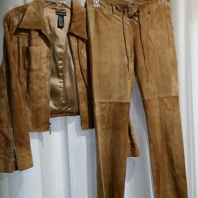 be be Leather jacket and pants