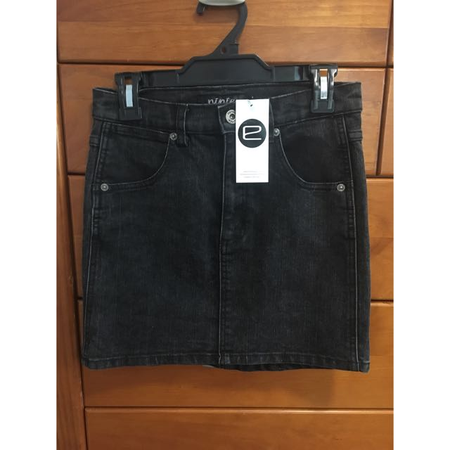 Evolution Black Denim Mini Skirt