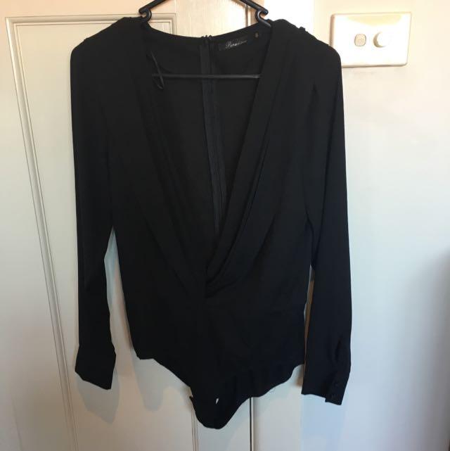 Black Shirt Leotard