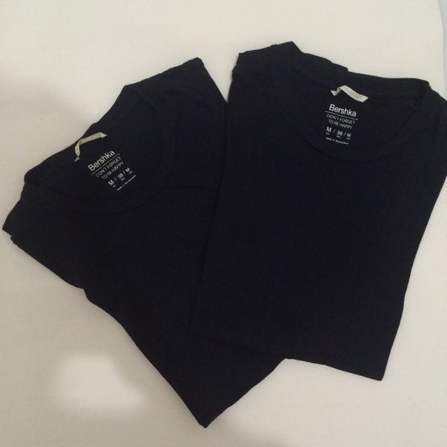 Black T-shirt Bershka