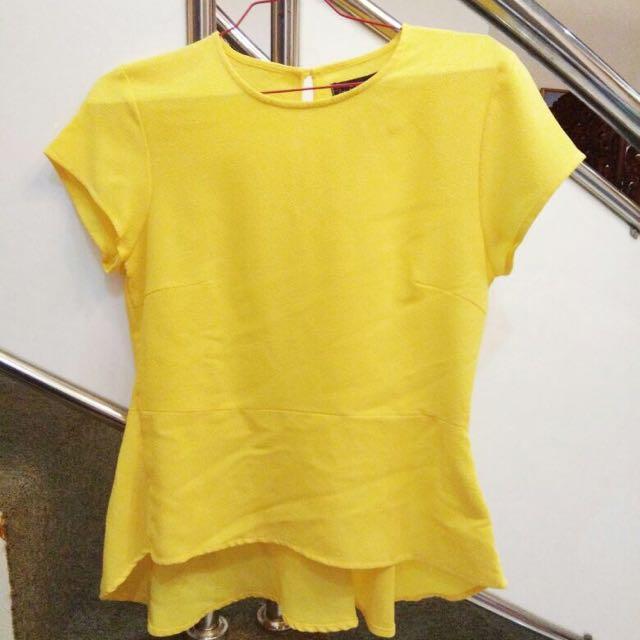 Blouse Plum Yellow Zoe