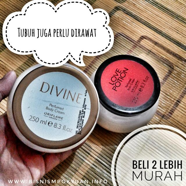 body cream divine & potion  @60rb