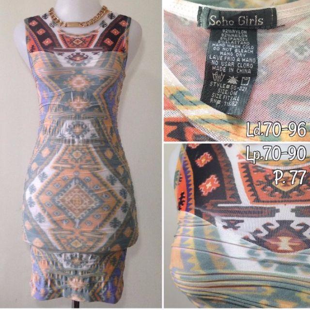 BODYCON DRESS / TRIBAL DRESS