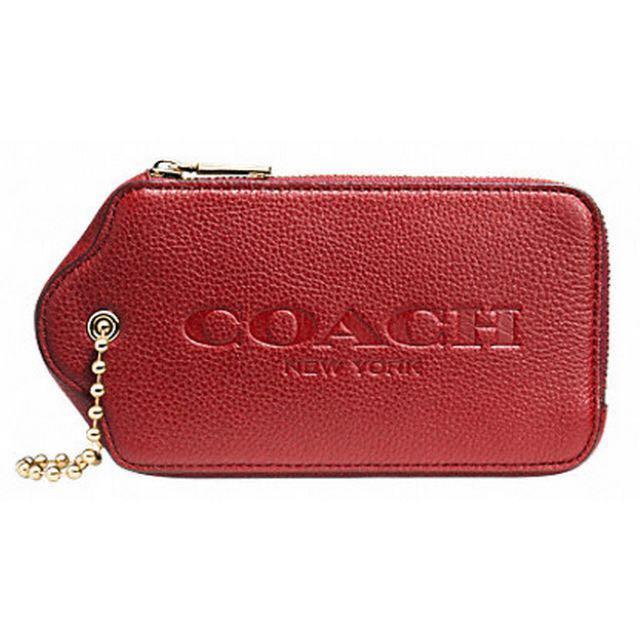 (已售出)[小謝叔叔]Coach-牛皮可愛logo零錢包 可以裝Tr哦