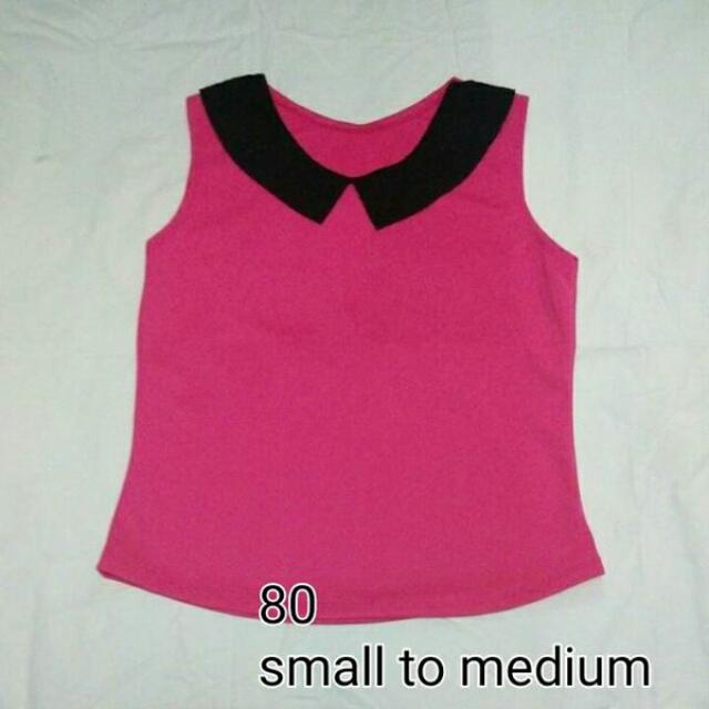 Collared Pink Top