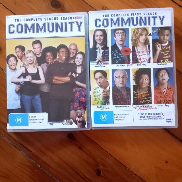Community DVD complete Season 1 & 2