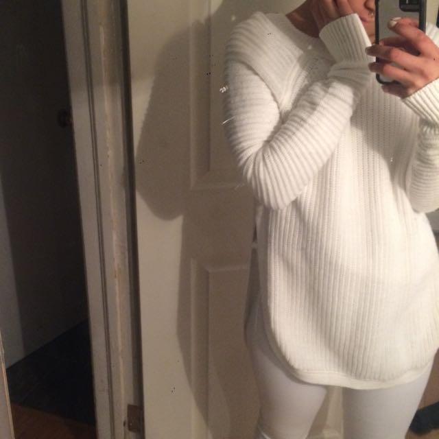 Cozy White Sweater