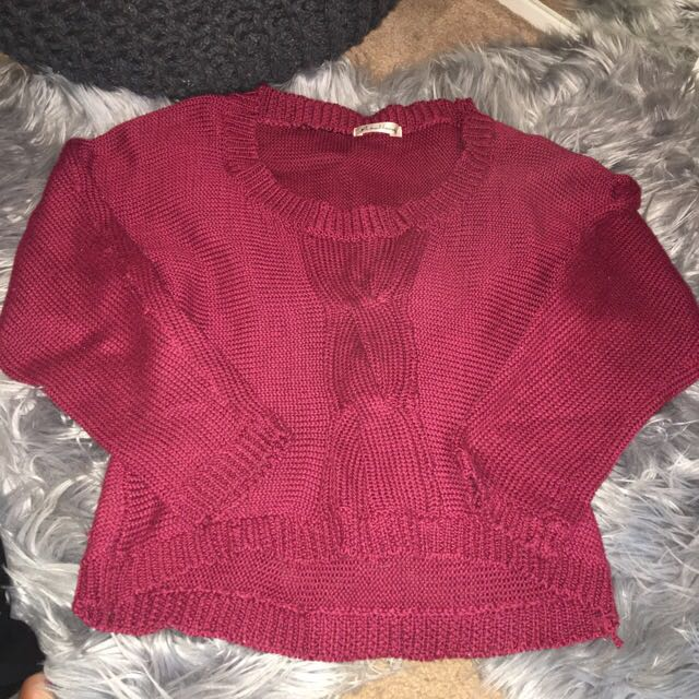 Dark Maroon Knitted Shirt/Jumper