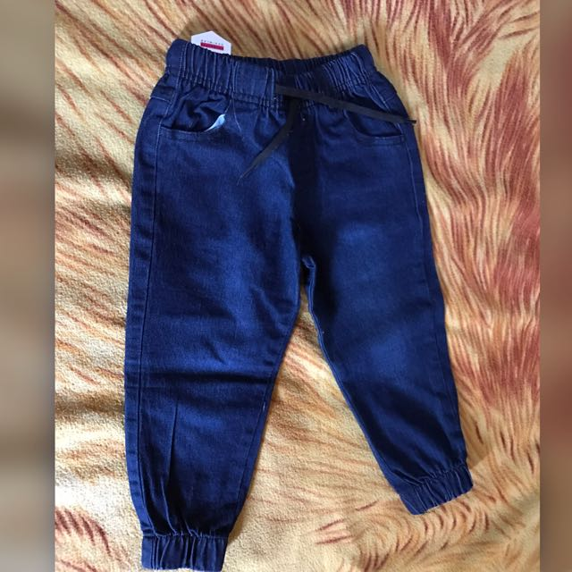 Denim Jogger Pants For Toddlers