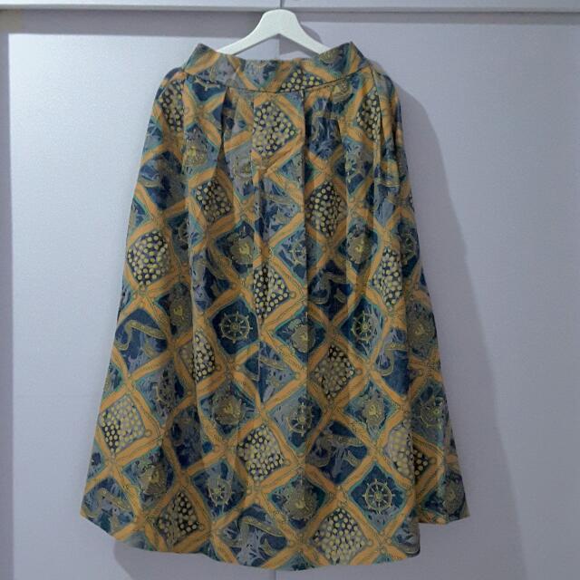REPRICE Denim Pleated Skirt