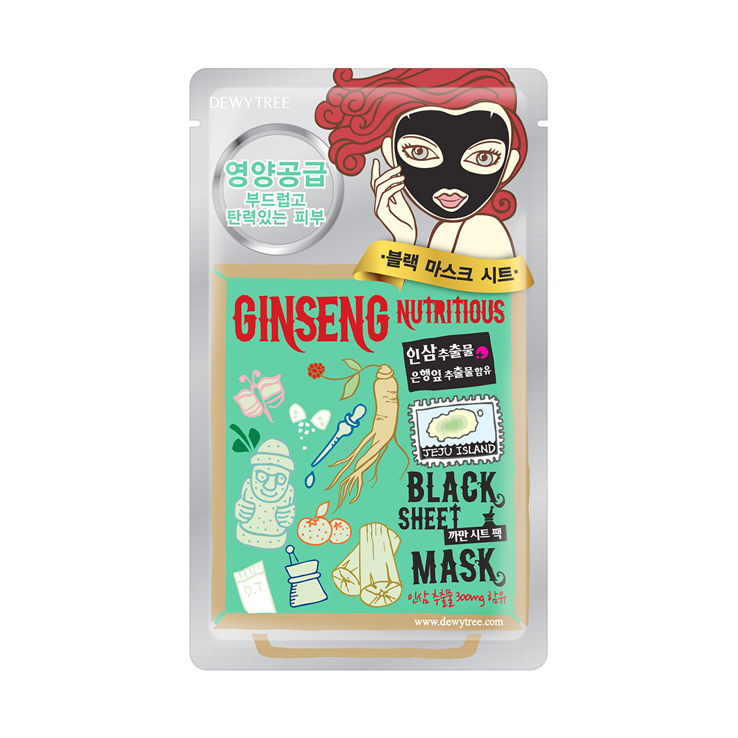 Dewytree Ginseng Nutritious Black Mask
