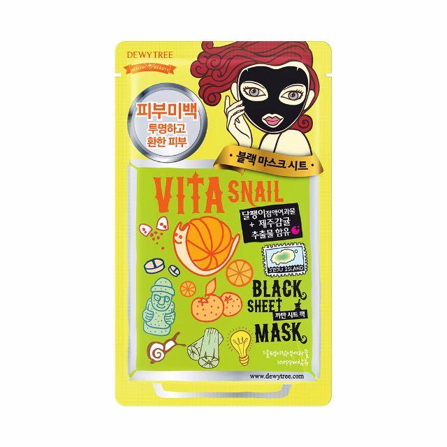 Dewytree Vita Snail Black Mask