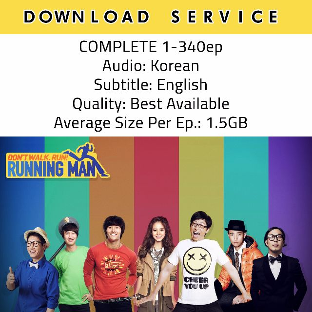 Download Service Running Man Complete Season 1 (1-340