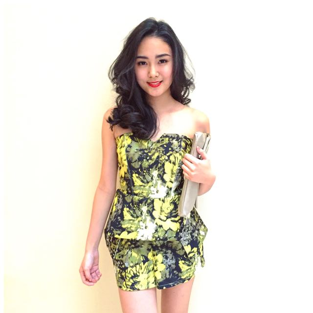 Yellowish Floral Jumpsuit