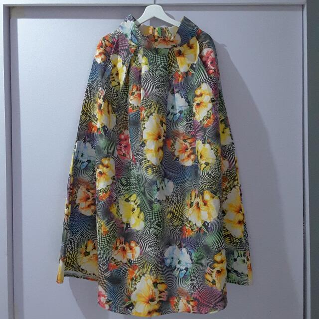 REPRICE Floral Pleated Skirt