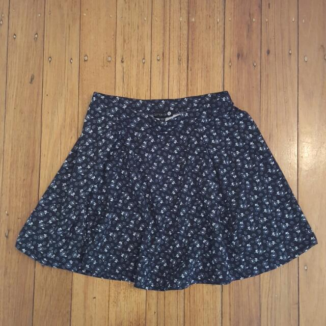 Floral Print Skirt Size S