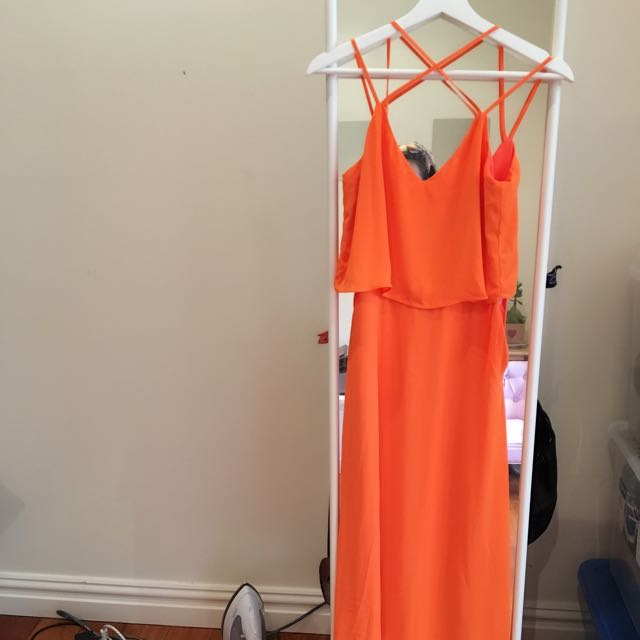 Forcast Orange Long Dress