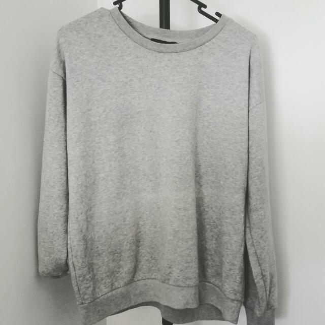 Forever 21 Grey Basics Sweatshirt