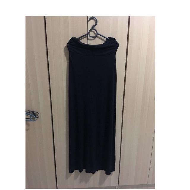 Forever 21 (overrun) Black Tube Maxi Dress