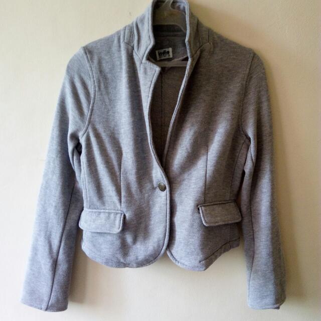 Gray Mid Blazer