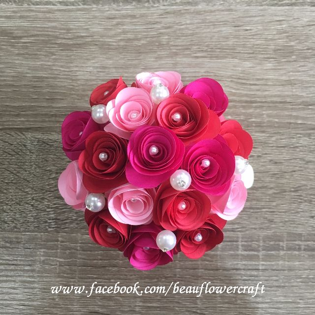 Handmade rolled paper rose flowers in mug design craft art handmade rolled paper rose flowers in mug design craft art prints on carousell mightylinksfo