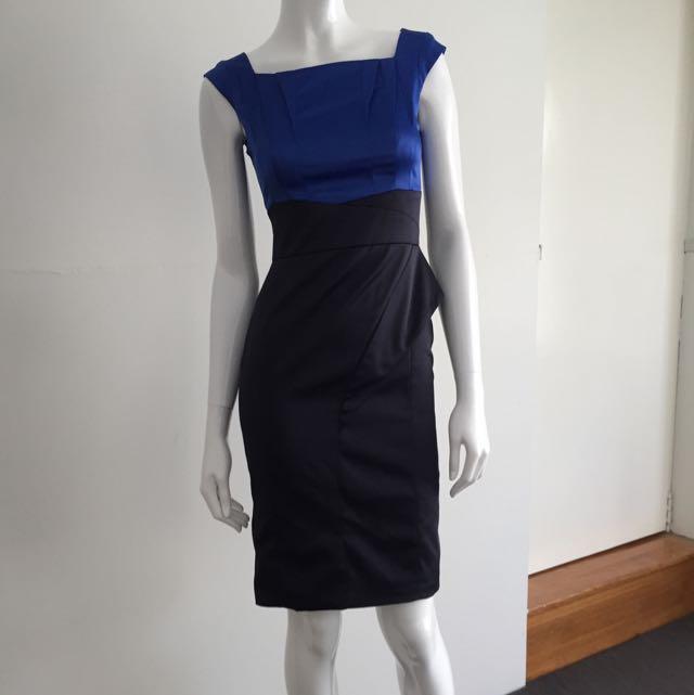 Karen Millen Royal blue/Black One-piece Dress