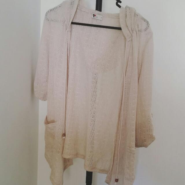 Lightweight Beige/Cream Cardigan