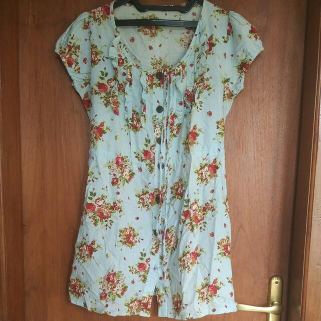 MINI DRESS FLOWER katun BIG SIZE