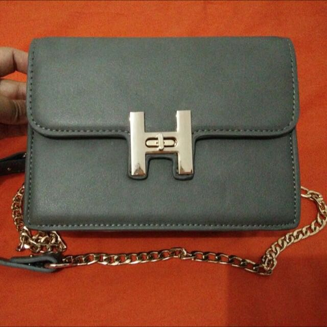 Mini Grey Sling Bag
