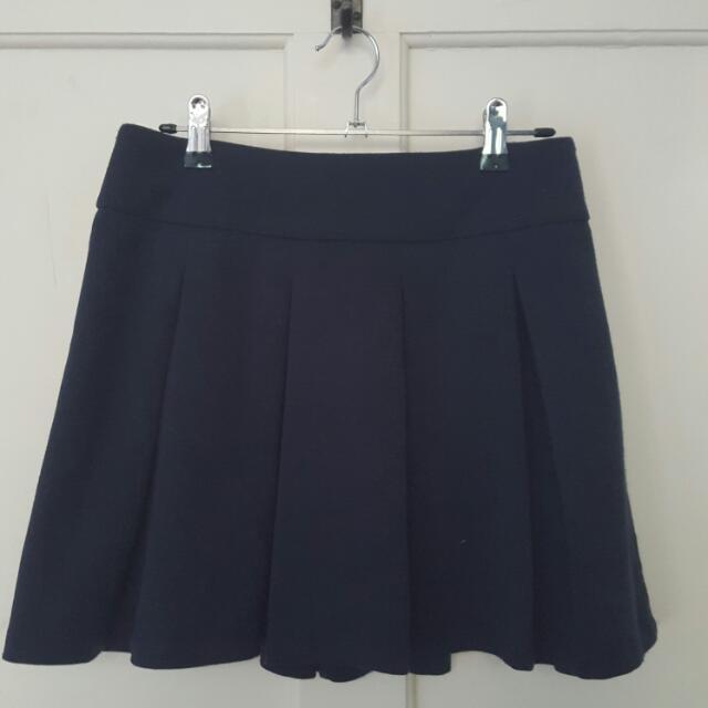 Navy Blue Skater Skirt Size 8