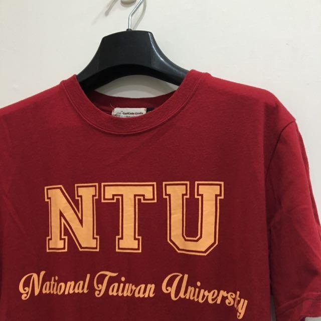 NTU 台大 短袖 紅上衣