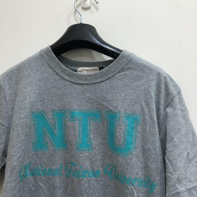NTU 台大 短上衣 灰底藍字