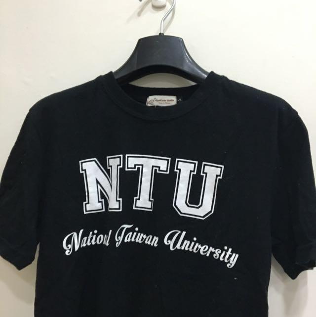 NTU 台大 短袖 黑底白字