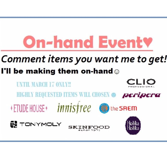 ON-HAND EVENT!!!