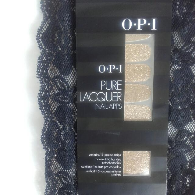 OPI Pure Lacquer Nail Apps In Glitter Gold Still In Original Packaging Free Shipping
