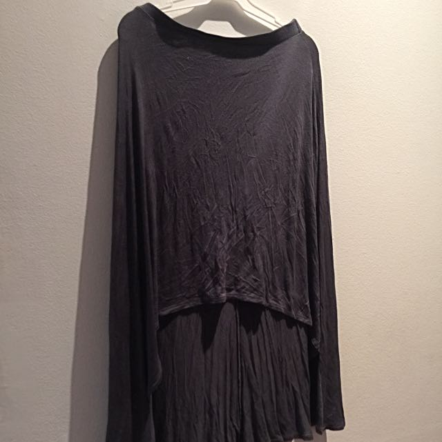 Original FOREVER21 High-low Hem Skirt In Grey