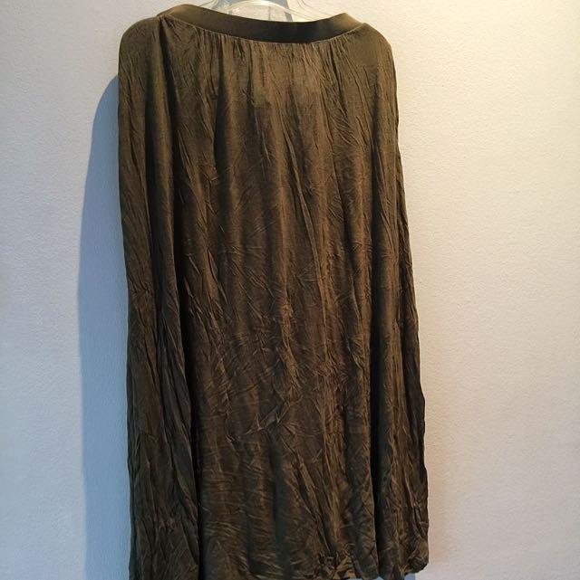 Original H&M MAXI Skirt MOSS GREEN🌲