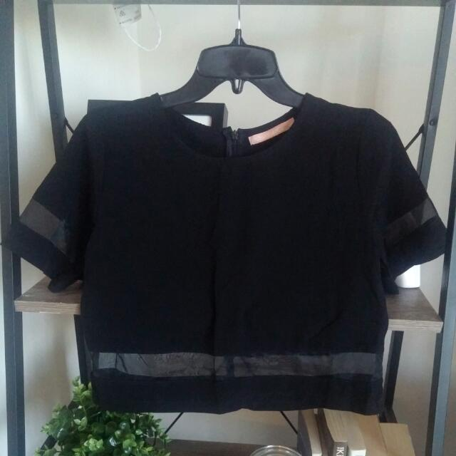 Paradisco Black Crop T Top