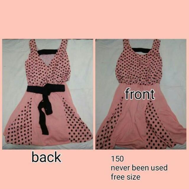 Pastel Pink With Polka Dots Dress