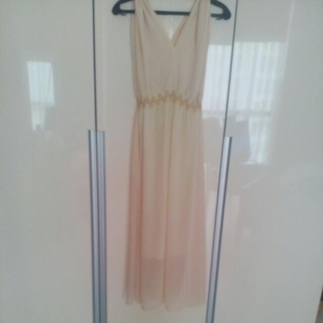 Pre-Loved Long Dress(Light Beige)