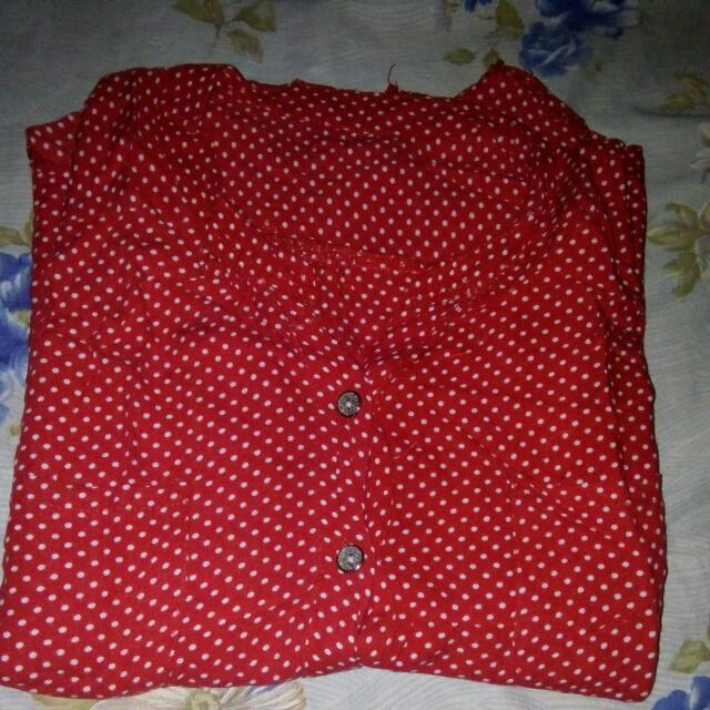 Red Polka With Pouch