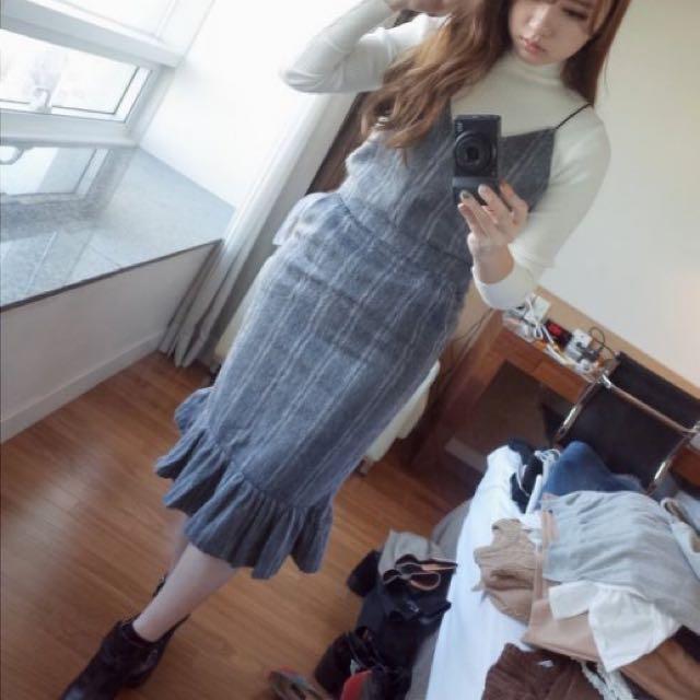 Samantha in Seoul 毛呢魚尾洋裝set