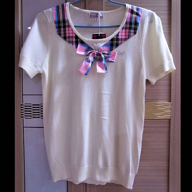 [Scottish House] 米白短袖上衣 (全新) M