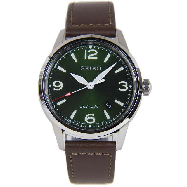 339cd4032 SEIKO MENS PRESAGE AUTOMATIC GREEN DIAL BROWN LEATHER STRAP SRPB05J1, Men's  Fashion, Watches on Carousell