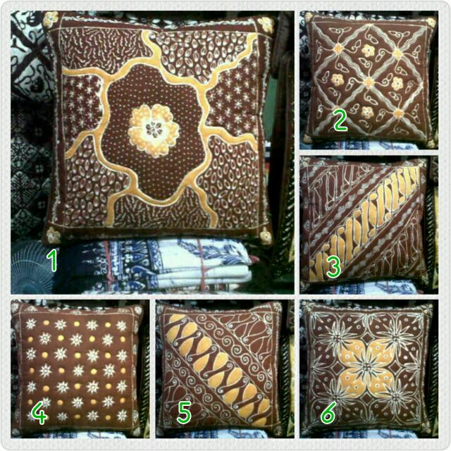 Set Sarung Bantal Kursi Batik Tulis